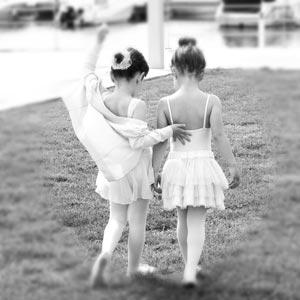 Ballettmädchen in Trickots
